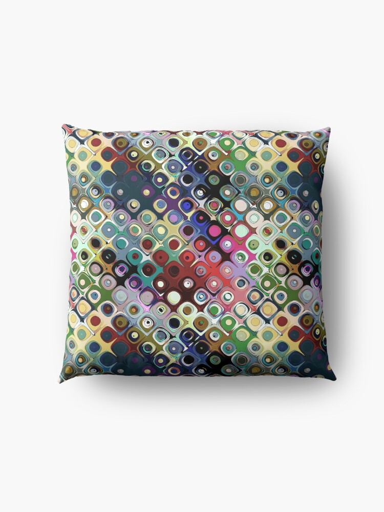 Alternate view of Colorful Circles Pattern Floor Pillow
