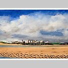 Tenby panorama from south beach by WILT