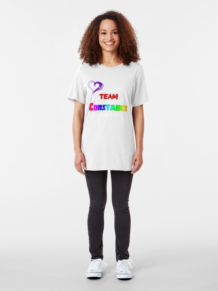 Alternate view of Team Constance! Slim Fit T-Shirt