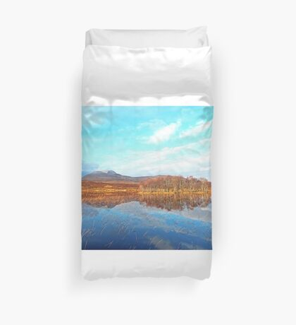 Canisp Reflections Loch Awe (Assynt) Duvet Cover