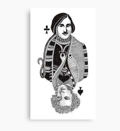 Gogol vs Pushkin Canvas Print