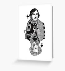 Gogol vs Pushkin Greeting Card