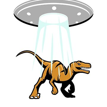 UFO Alien Abduction Dinosaur by wrestletoys
