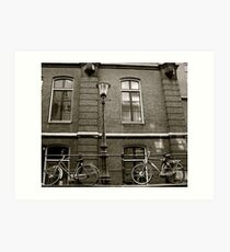 Black & White Bicycle Art Print