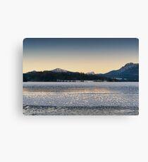 Frozen Mountain Dusk Canvas Print