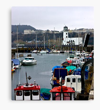 Scarborough Harbour #1 Canvas Print