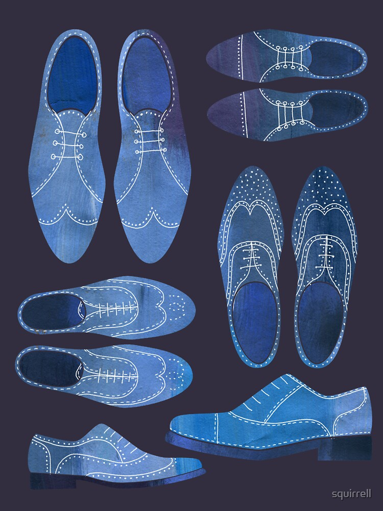 Blue Brogue Shoes for Hipsters and Gentlemen by squirrell