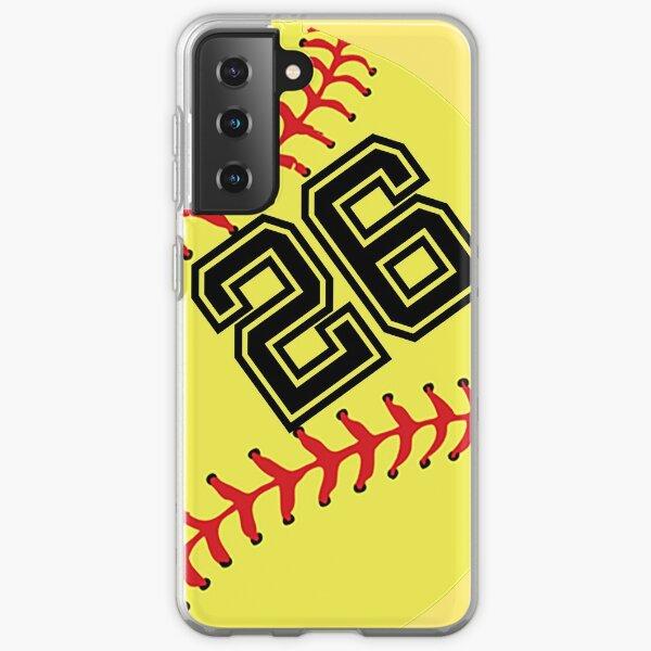 Softball Player Jersey No 26 Back Number #26 Ball Sport Sticker Gift Samsung Galaxy Soft Case