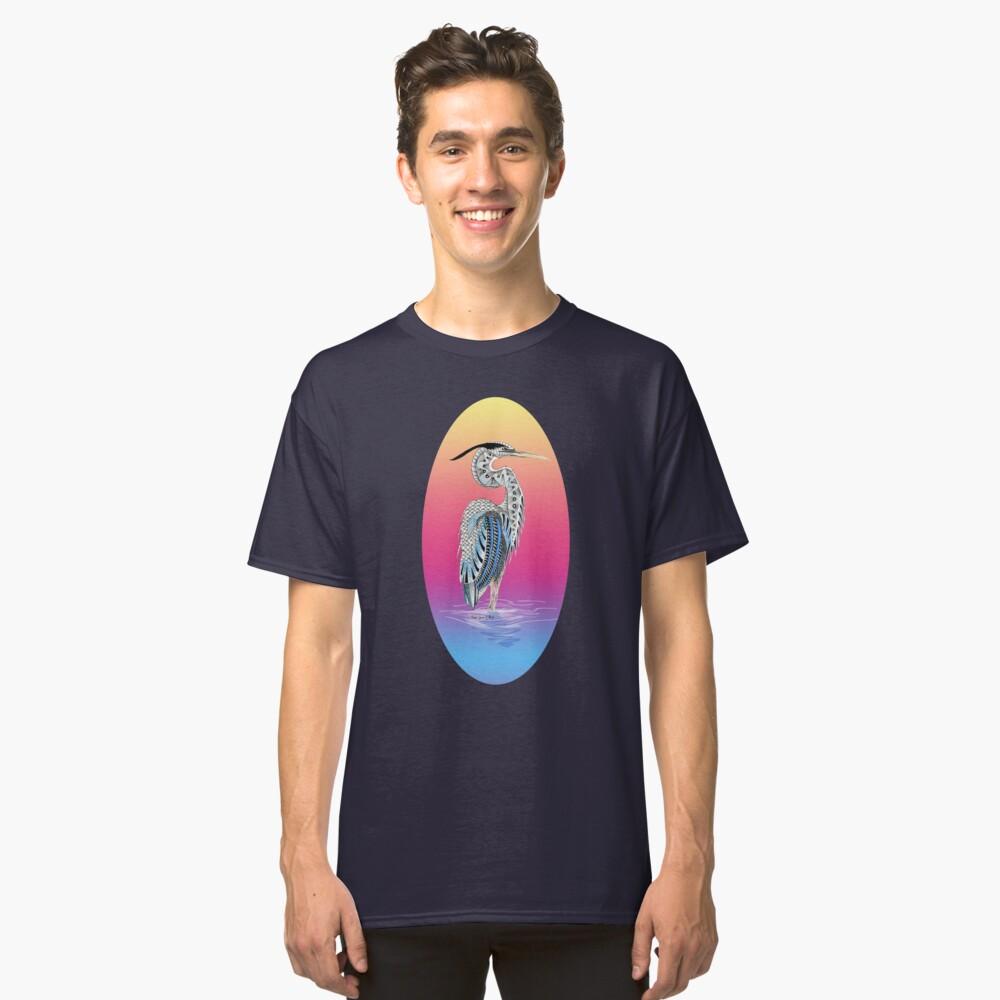 Great Blue Heron Totem Classic T-Shirt