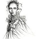 ruffle collar girl by Lara Wolf