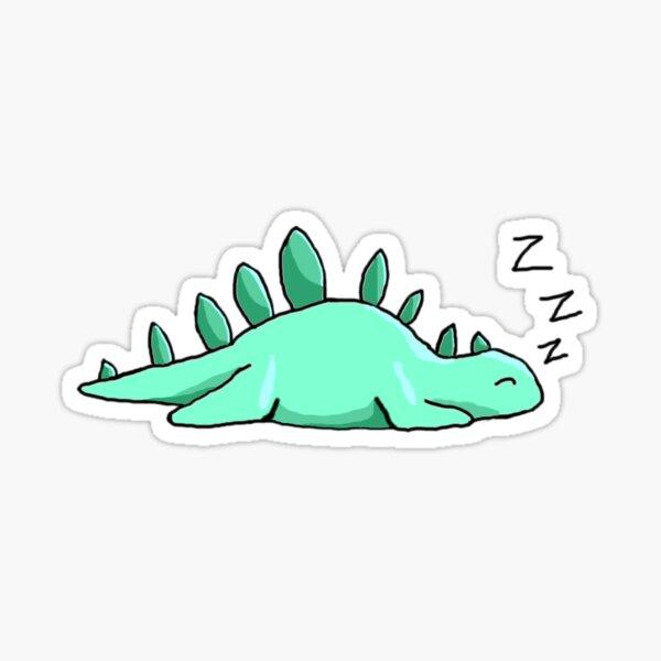 A Sleepy Stego (Teal Background) Sticker
