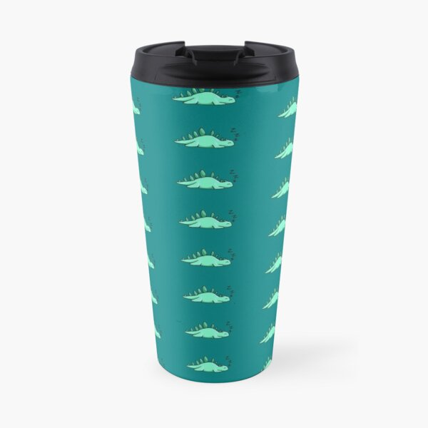 A Sleepy Stego (Teal Background) Travel Mug