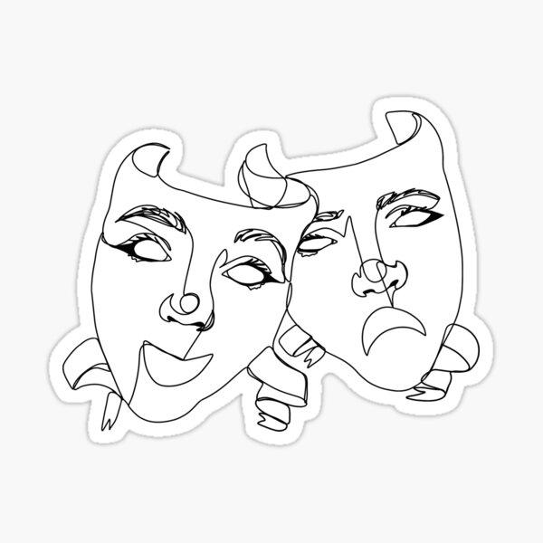 Drama masks  Sticker