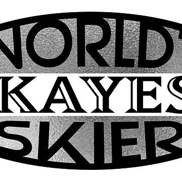 World Okayest Skier - Silver | Ski Designs | DopeyArt by DopeyArt