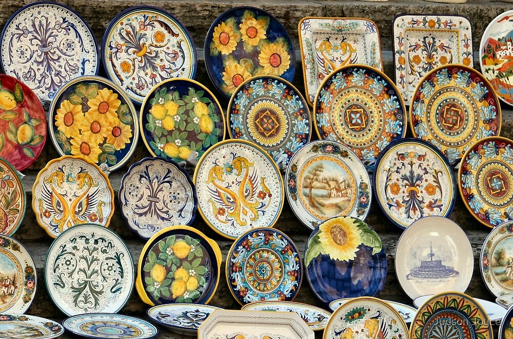 Perugian Ceramic Dishes by Judson Joyce