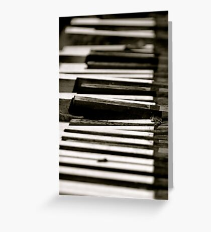 Dead Piano Greeting Card