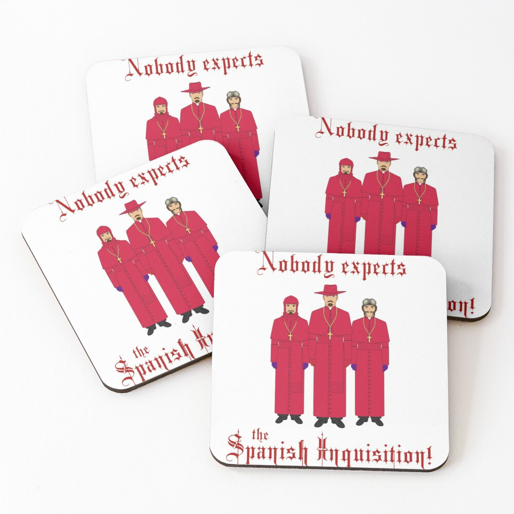 Monty Python/Nobody expects the Spanish Inquisition! Coasters (Set of 4)