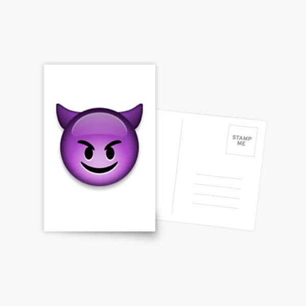 Devil Emoji Postcard