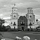 Mission San Xavier del Bac At Dusk by Larry Costales