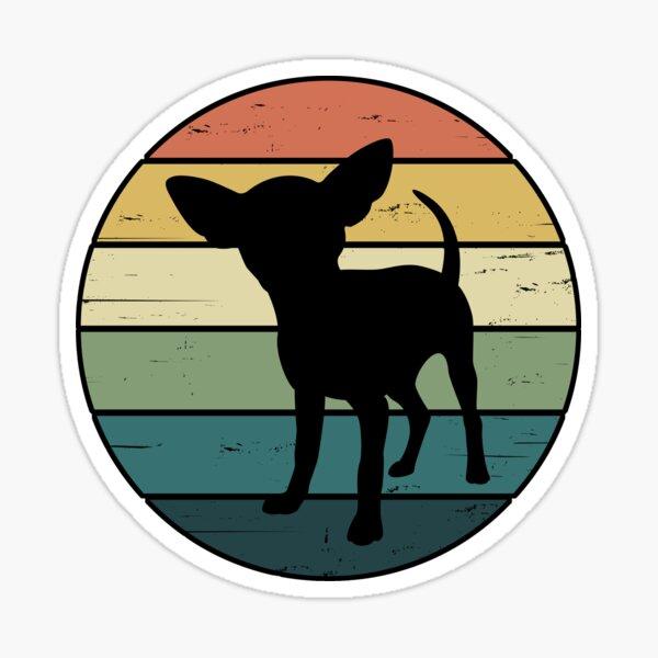 Retro Rainbow Chihuahua Dog Sticker