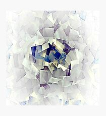 Cubism-inspired Digital Art | Ice Abstraction | Cubists Art Photographic Print