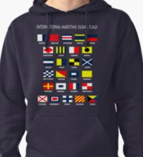 Maritime Flags Pullover Hoodie