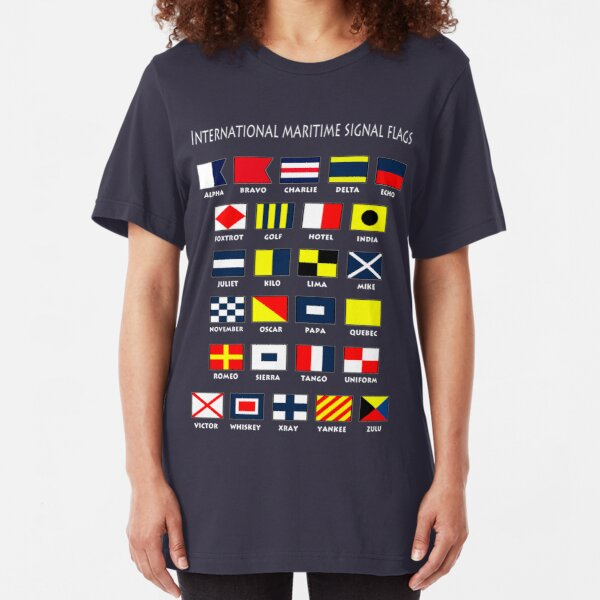 Maritime Flags Slim Fit T-Shirt