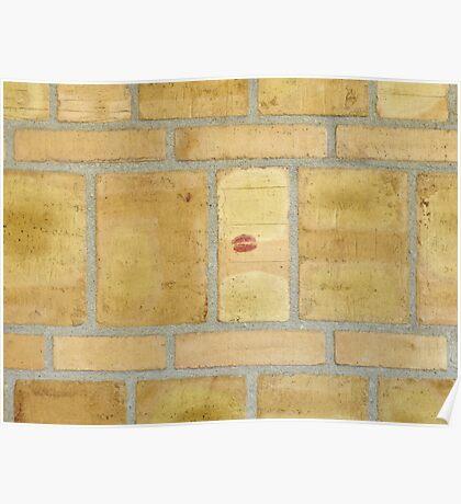 Someone else loves brick walls, too Poster