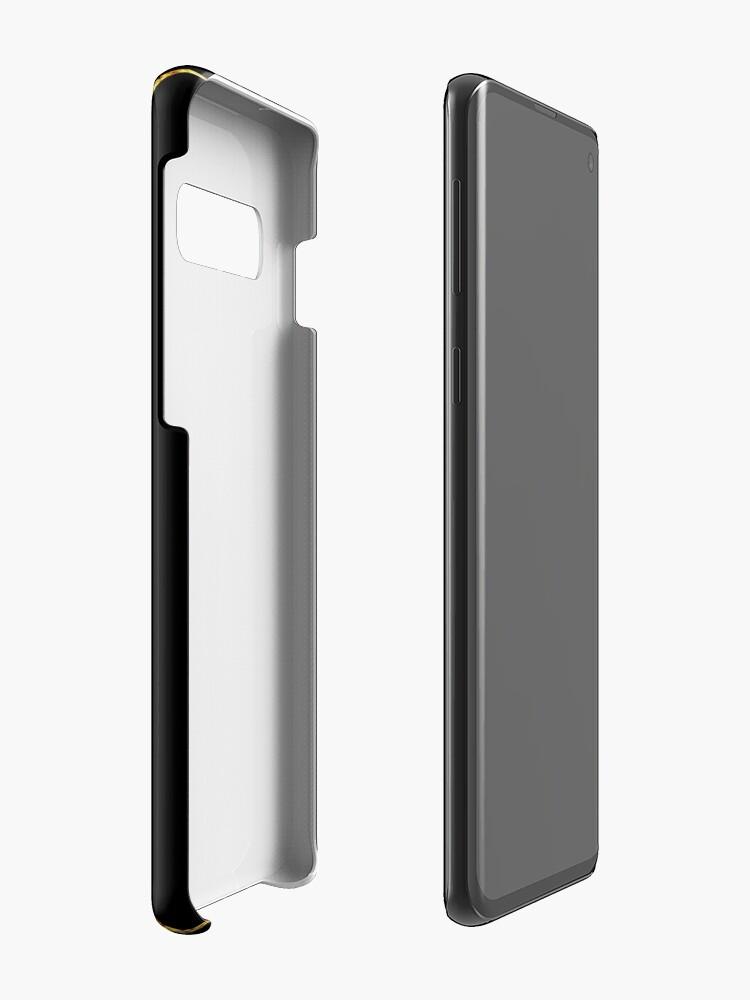 Alternative Ansicht von Art Deco Gold-Glitter Vertikale Linien auf schwarzem Samt Hülle & Klebefolie für Samsung Galaxy
