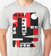 Black and White and Red All Over Unisex T-Shirt