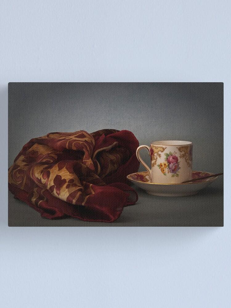 Alternate view of Tazzina con foulard Canvas Print