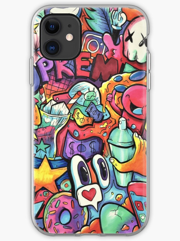 Doodle Softcase Full Cover Iphone 6 6S