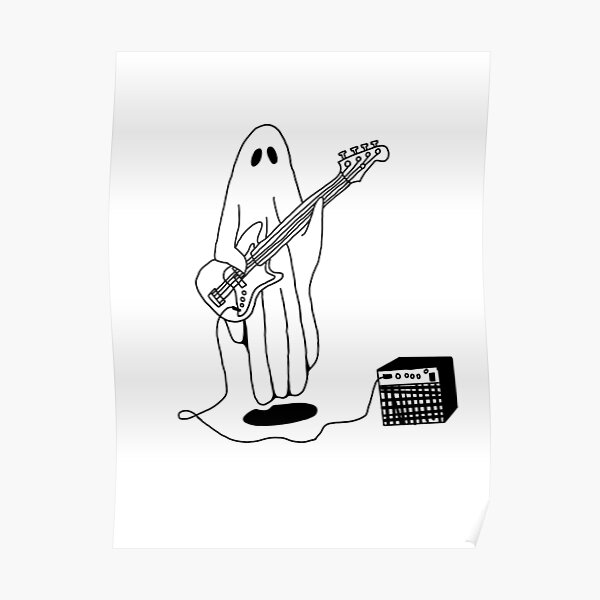 Sheet Ghost Playing Bass Poster