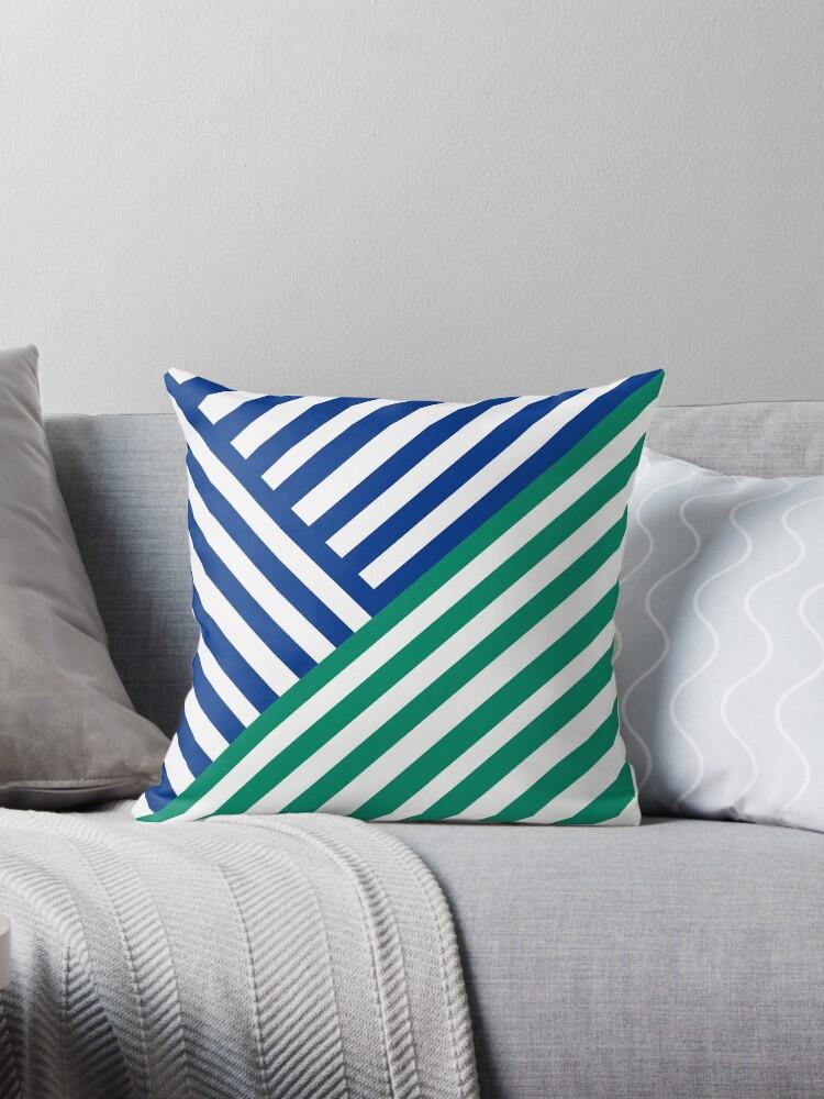 Stripe Wipe (Blue/Green) by Tim Mane