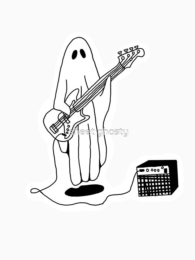 Sheet Ghost Playing Bass by rosecaffey