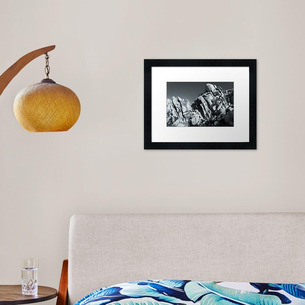 Big Rock Joshua Tree 5793 Framed Art Print