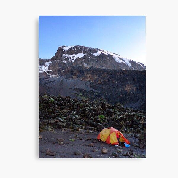 Camp at Breakfast Cliffs, Mount Kilimanjaro Canvas Print