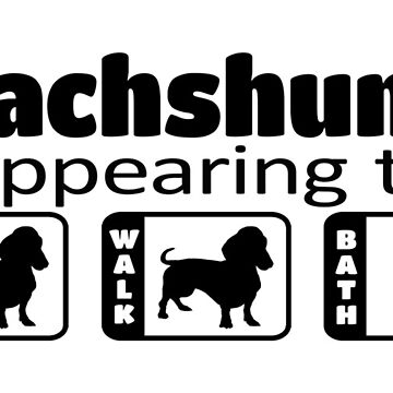 Dachshund disappearing trick  by doggination