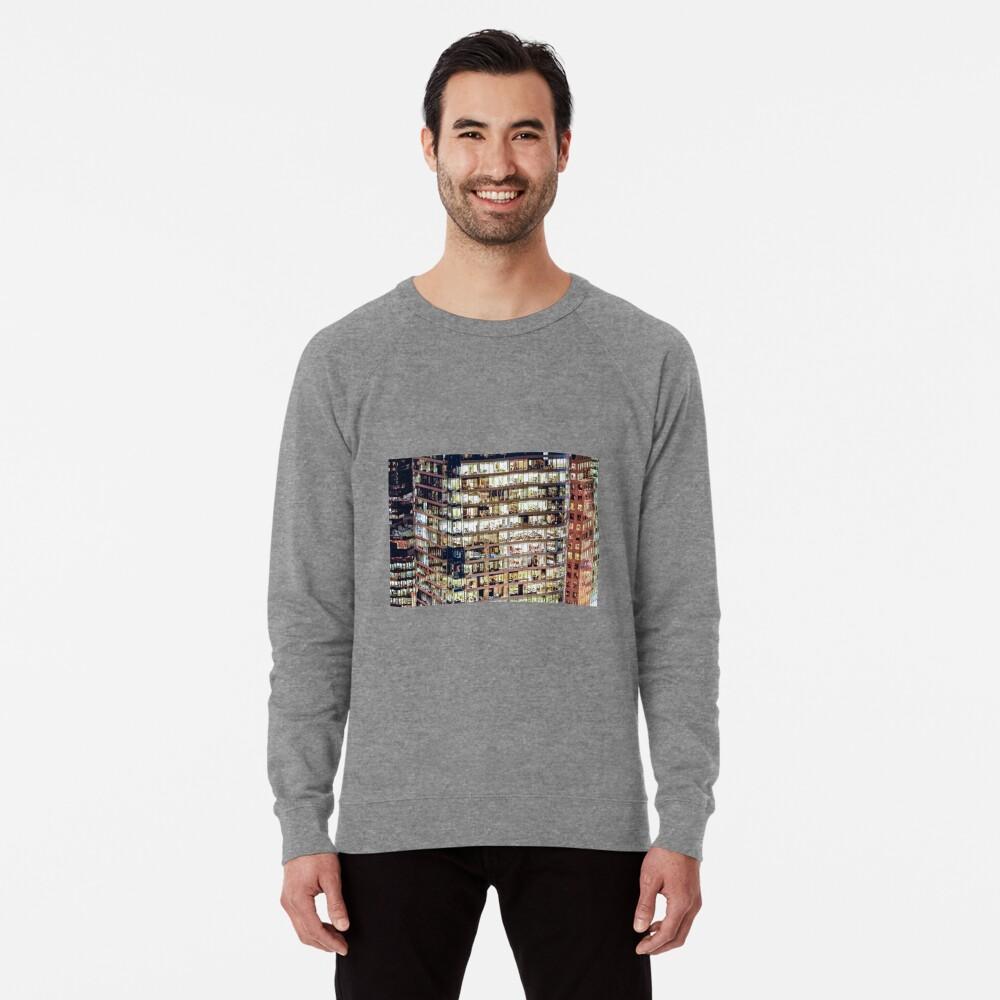 1711 Financial District Cityscape Vancouver Lightweight Sweatshirt