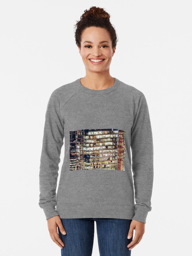 Alternate view of 1711 Financial District Cityscape Vancouver Lightweight Sweatshirt