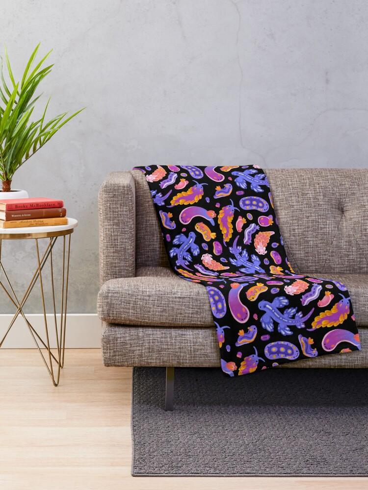 Alternate view of Sea slug Throw Blanket