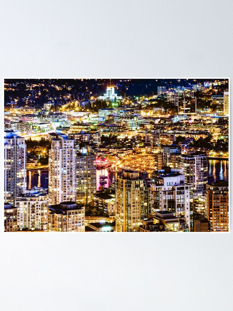 Alternate view of 1549 View over False Creek Vancouver British Columbia Canada Poster