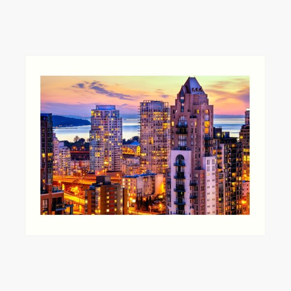 0361 Yaletown and English Bay Vancouver Art Print