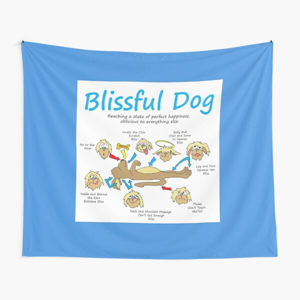 Blissful Dog Tapestry