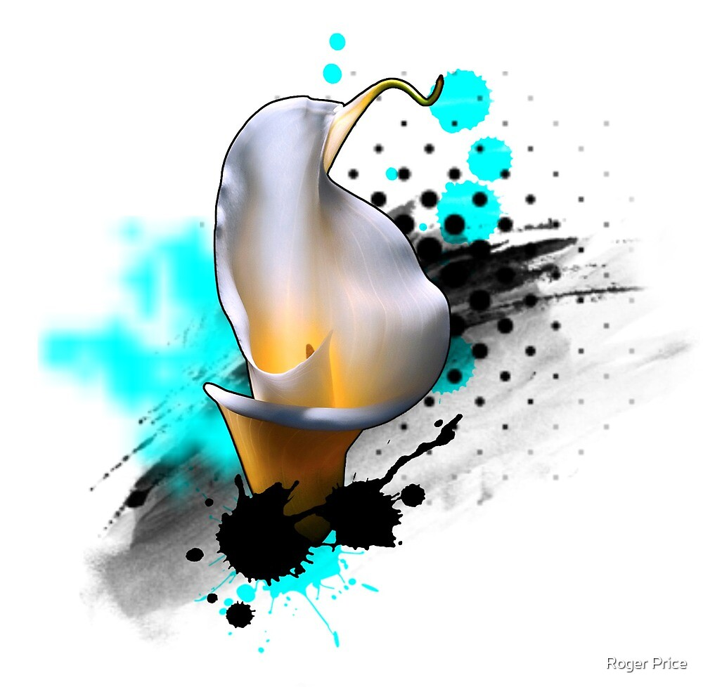 Abstract Calla Lily by Roger Price
