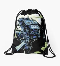 Blue - The Big Bad Wolf Drawstring Bag