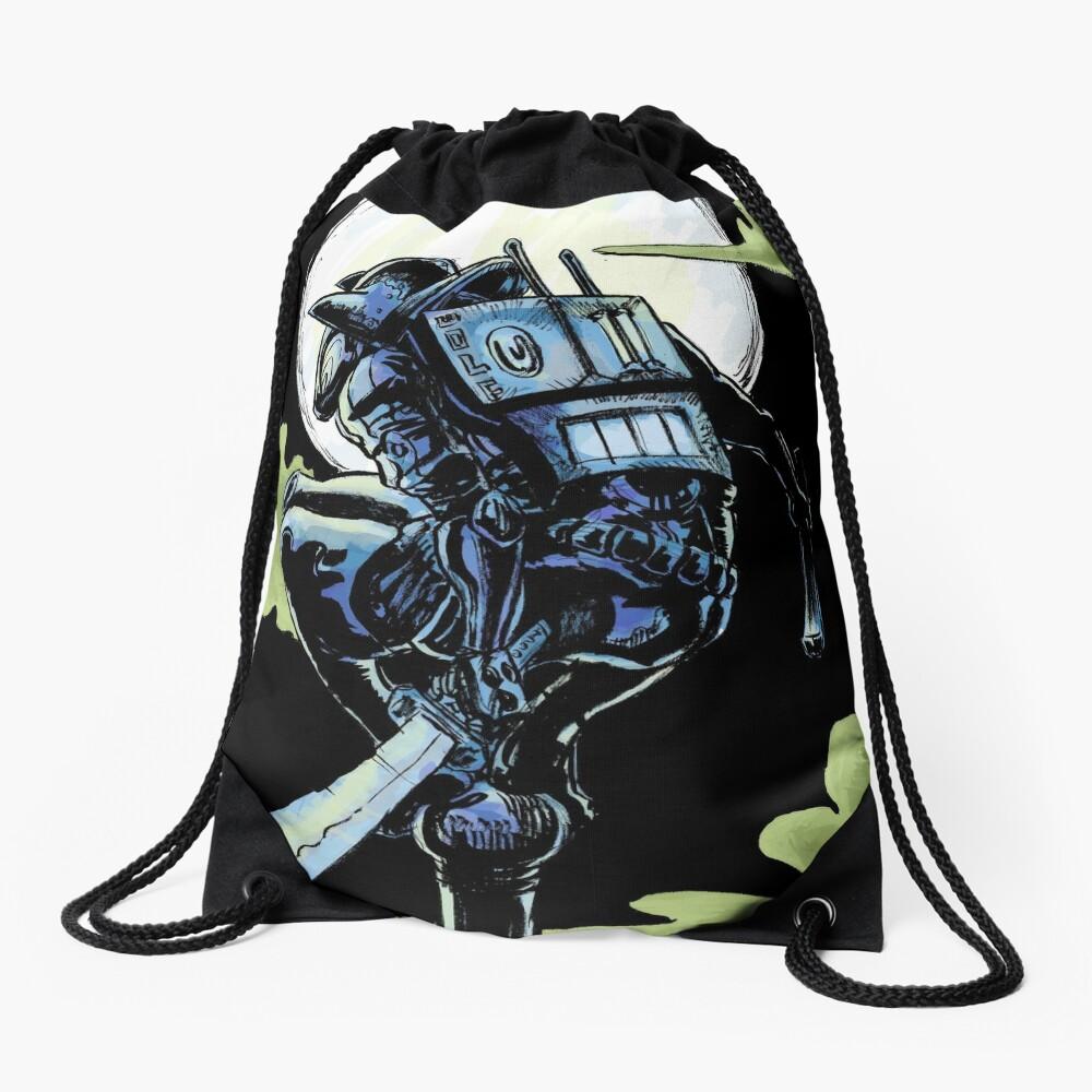 Blue - The Big Bad Wolf Drawstring Bag