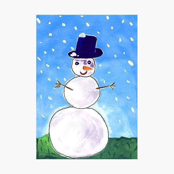 Snowman Photographic Print