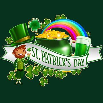 St Patricks Day Trend Lucky Design by Myriala