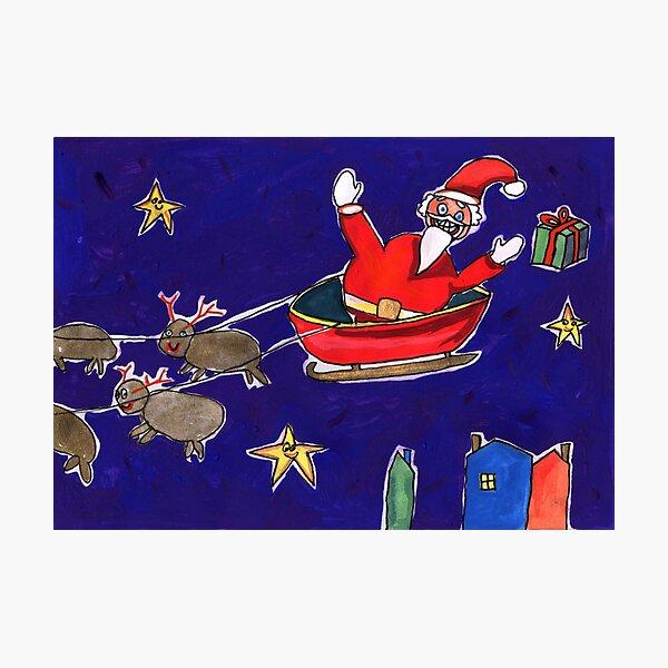 Crazy Santa Photographic Print